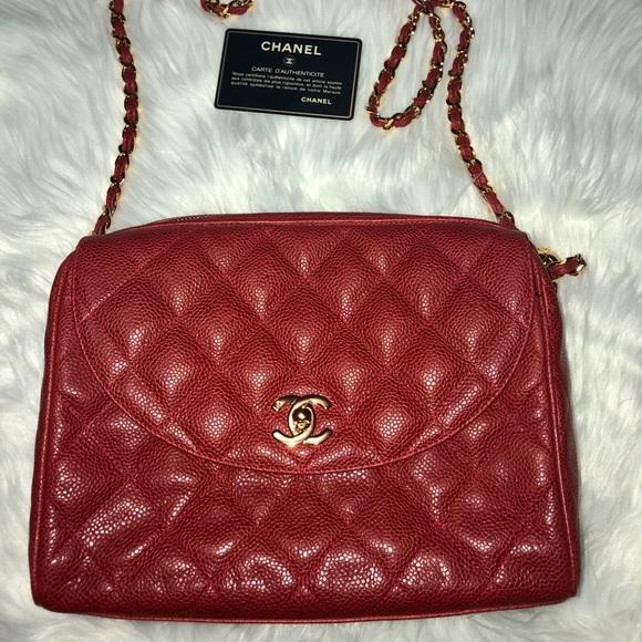 f8cf217836b7 CHANEL Bags | Caviar Red Medium Bag | Poshmark
